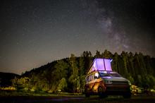 VW T6 California Nachthimmel Mit Milchstraße