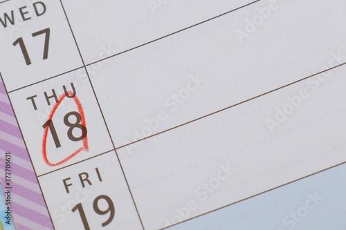 Papel de parede カレンダー 日付に丸を入れる