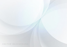 Abstract White And Gray Geomet...