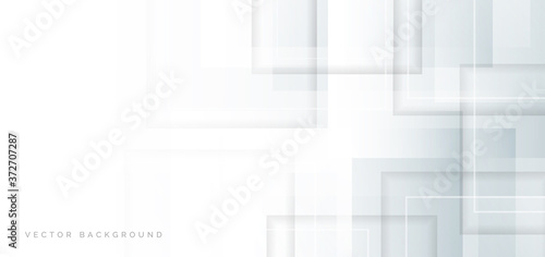 Abstract white and grey squares pattern overlapping background.