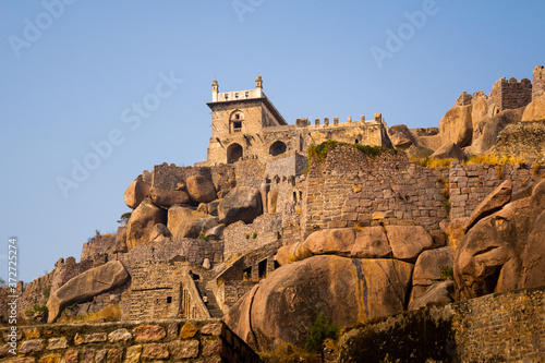 Photo ancient castle in Hyderabad - Golconda fort