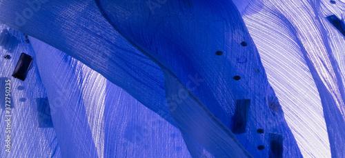 Fototapeta Background design texture, silk pattern, blue fabric with glued decorative faceted stones obraz na płótnie