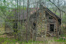 Abandoned Homestead In The Mountains