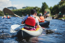 A Process Of Kayaking In The C...