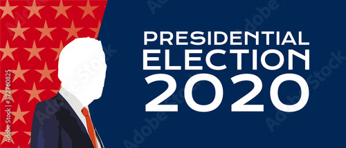 Presidential election 2020 in usa Billede på lærred