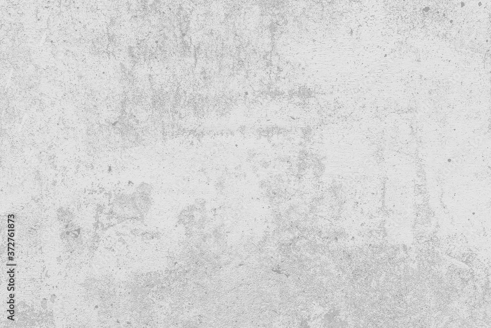 Fototapeta Ancient grungy minimal faded retro rustic gypsum exterior wall. Aged scuffed crumpled delicate grunge interior decor. Distressed crease crushed wrinkle, uneven vintage streaks on 3d smooth easy design