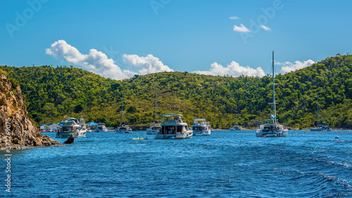 Photo A view across the Bight bay on Norman island off the main island of Tortola