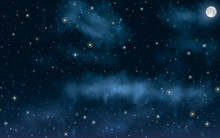 Big High Resolution Night Sky ...