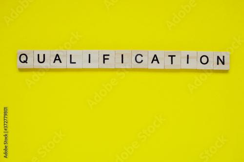 Obraz na plátně Word qualification