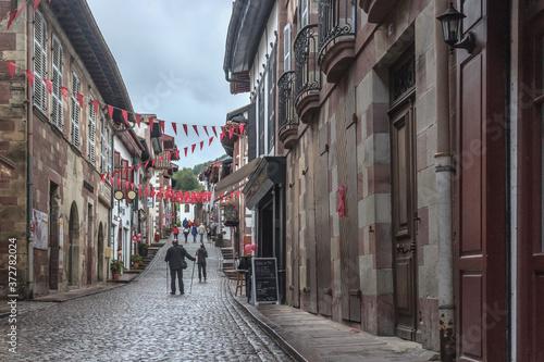 Fotografie, Obraz City of pilgrimage Saint-Jean-Pied-de-Port in the Antlantic Pyrenees