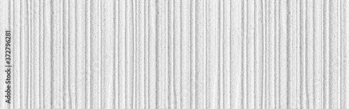 Fotografiet Panorama of Modern white stone wall with stripes texture and seamless background