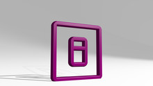 Switch On 3D Icon Casting Shadow, 3D Illustration For Background And Button