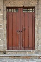 Tall Wooden Door With Metal Knob