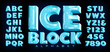 Ice Block Alphabet; A Vector Font with 3d Ice Effects Complete with Reflections, Transparency, Trapped Bubbles and Other Realistic Detailing. This Lettering Has the Frozen Look of Ice Cubes.