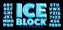 Ice Block Alphabet; A Vector F...