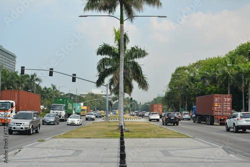 Fotomural Roxas boulevard in Manila, Philippines
