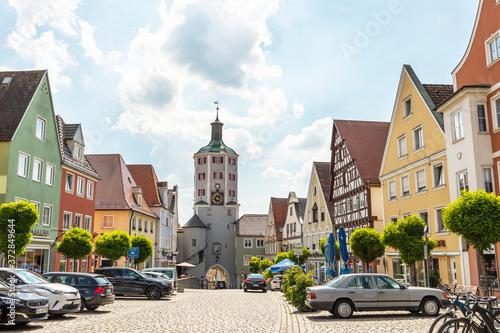 die Innenstadt von Günzburg mit dem unteren Tor Fototapete