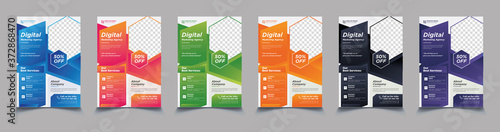 Fototapeta Creative corporate business flyer template,flyer examples for business,marketing flyer template,business poster template free obraz