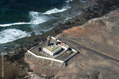 Fotografía Foto aérea de la costa y del faro de Jandía en Fuerteventura, Canarias