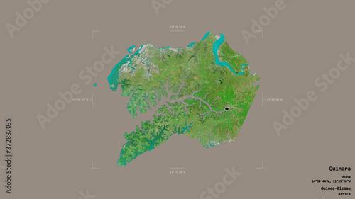 Quinara - Guinea-Bissau. Bounding box. Satellite Canvas Print