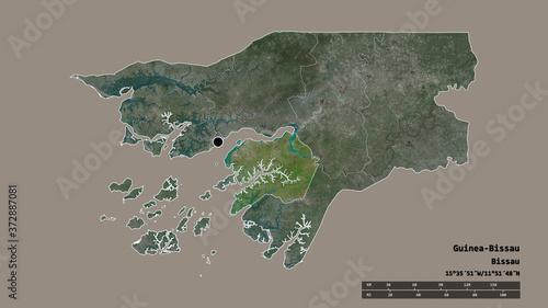 Photo Location of Quinara, region of Guinea-Bissau,. Satellite