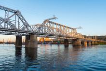 Bridge Over The Yenisei River....