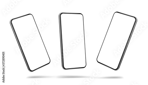 Obraz Smartphone blank screen in air template isolated on white background- eps 10 vector format - fototapety do salonu