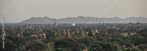 Fotografie, Obraz Panoramic view of pagodas in Bagan, Myanmar.