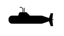 Submarine Solid Icon, Warship ...