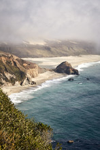 Amazing Vertical Shot Of Little Sur River Beach, Big Sur, California, USA