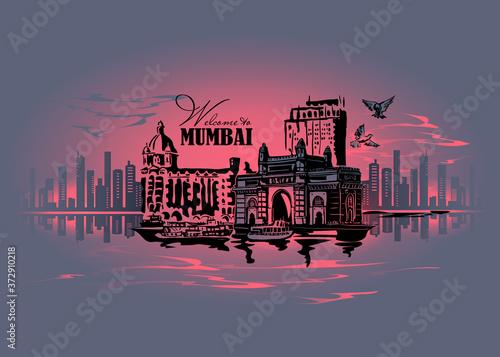 Fototapeta Mumbai, India Gate