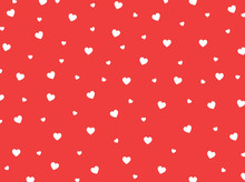 Red Heart Pattern. Vector Red ...