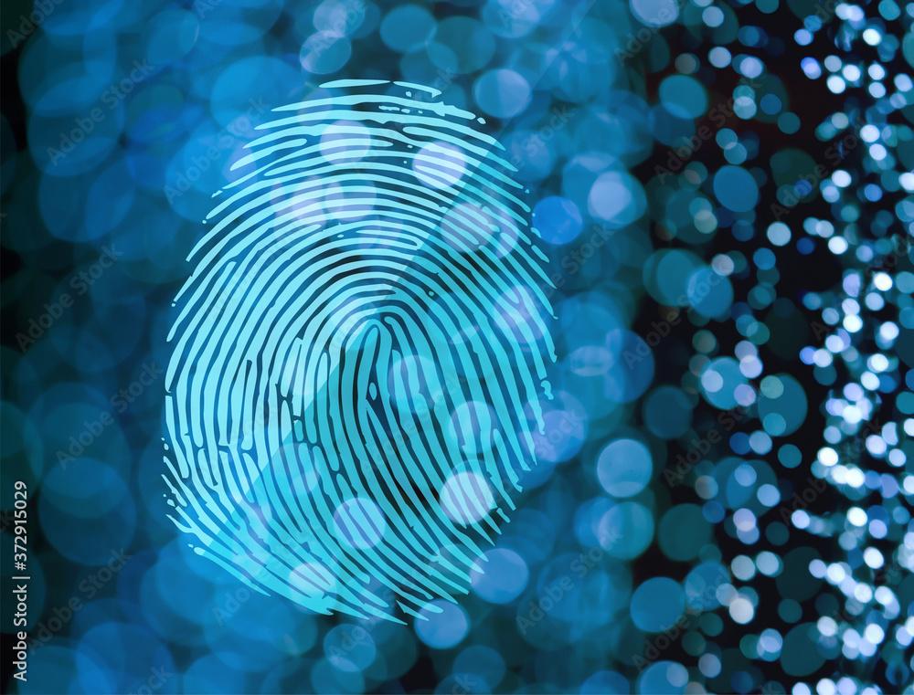Fototapeta Fingerprint