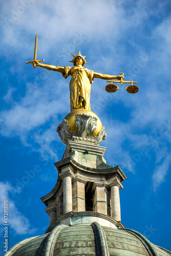 Scales of Justice of the Central Criminal Court fondly known as the Old Bailey L Canvas Print