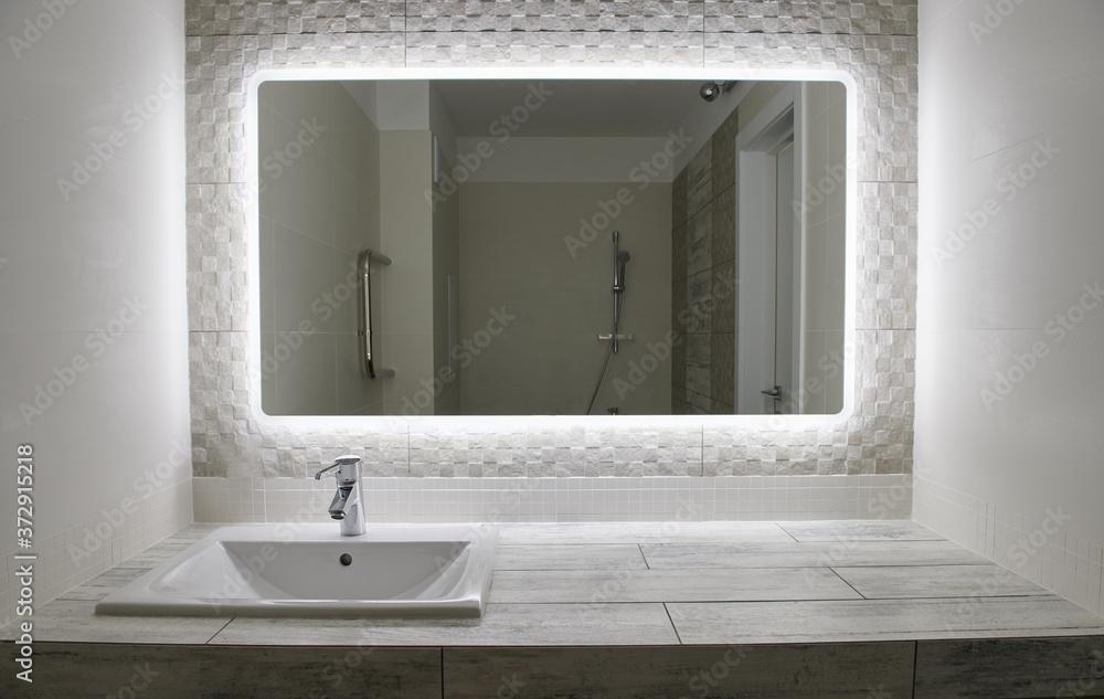 Fototapeta Small bathroom interior