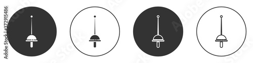 Foto Black Fencing icon isolated on white background