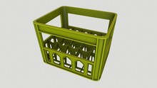 Bottle Crate Low-poly 3D Model