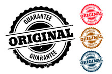 Original Guarantee Authentic Rubber Stamp Set Of Four