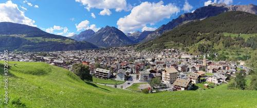 Bormio in Valtellina in Italia, Bormio village in Vaaltellina valley in Italy Canvas Print