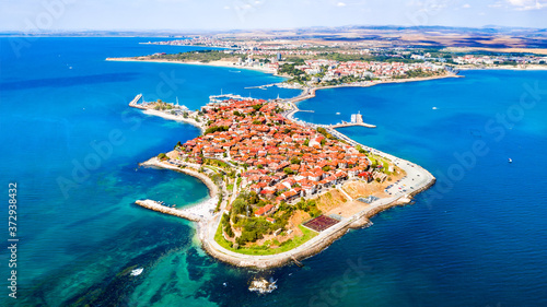 Nesebar, Bulgaria - Black Sea coastline Fototapet
