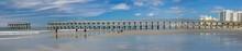 Fishing Pier Damaged By Hurricane Isaias In North Myrtle Beach, SC