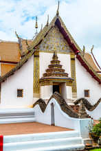 Image Of Ancient Temple Wat Phumin, Wat Phumin Is A Famous Temple In Nan Province, Thailand