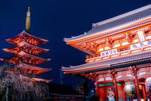Senso-ji Temple At Night In As...