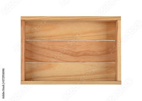 Fototapeta Empty brown wooden box isolated obraz