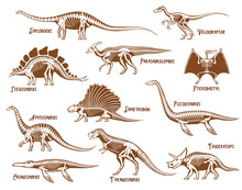 Dinosaurs Decorative Icons Set
