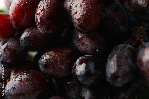 Fotografiet Fresh ripe grape on whole background, close up