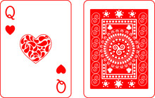 Queen Of Hearts, Playing Cards...