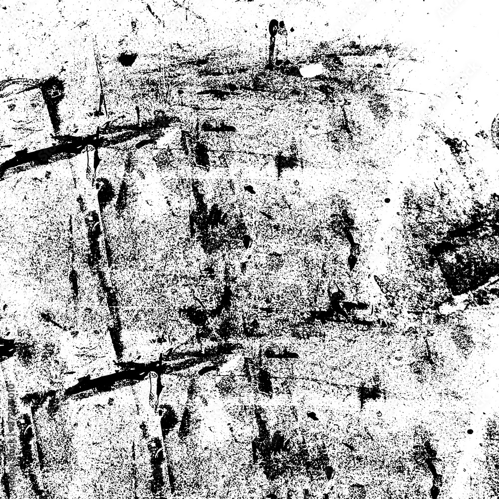 Grunge black and white. Texture of scratches, dust, dirt, chips, scuffs. Abstract monochrome background