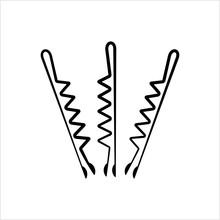Hair Pin Icon, Hair Bobby Pin ...