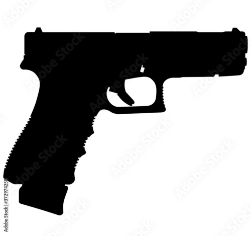 Fotografie, Obraz Semi caliber 9 mm Glock 18C Standard 9 mm Luger handgun, pistols for police and army, special forces